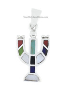 MENORAH PENDANT WITH GEMSTONES