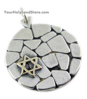 Star of David on Jerusalem Western Wall Pendant