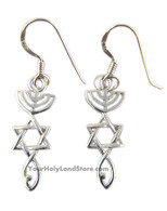 Messianic Seal of Jerusalem Earrings