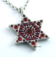 Star of Magen David Necklace - Maroon