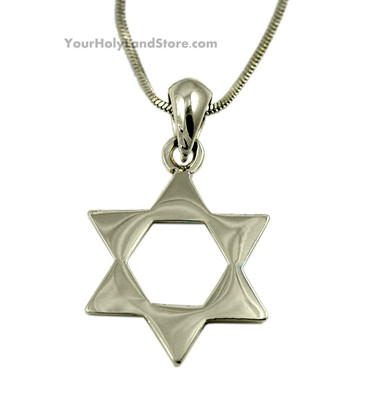 Star of Magen David Gold Plated Necklace