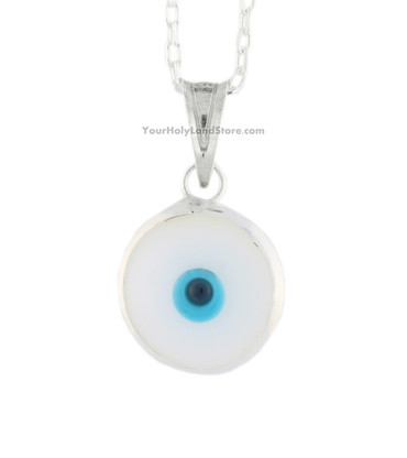 PROTECTION PENDANT AGAINST EVIL EYE - WHITE