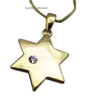 GOLD PLATED STAR OF MAGEN DAVID NECKLACE