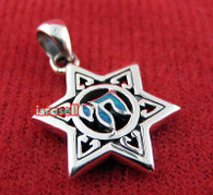 STAR OF DAVID & CHAI SILVER PENDANT