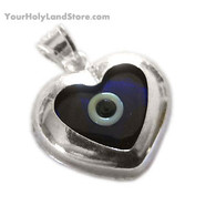 EVIL EYE HEART PENDANT