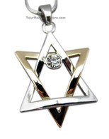 Gold and Silver STAR OF MAGEN DAVID NECKLACE