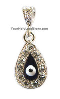 EVIL EYE PROTECTION PENDANT WITH SWAROVSKI CRYSTALS