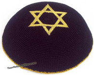 Knit Star of Magen David Kippah