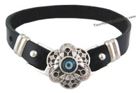Evil Eye Protection Leather Bracelet