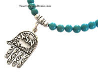 Hamsa Hand with Turquoise Necklace