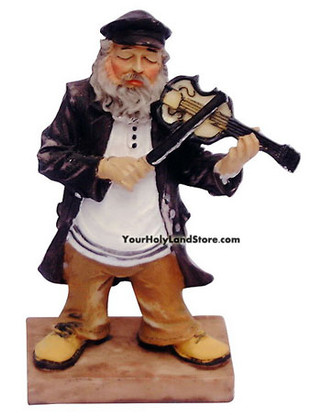 Jewish Fiddler On The Roof Figurine