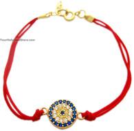 Red String St Silver Kabbalah Bracelet