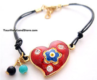 EVIL EYE PROTECTION HEART BRACELET
