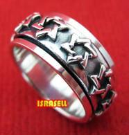 925 Sterling Silver STAR OF DAVID RING 1