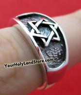 Sterling Silver STAR OF DAVID RING