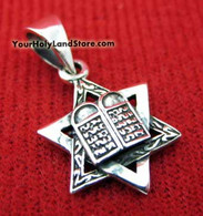 Star of David and Ten Commandments Pendant