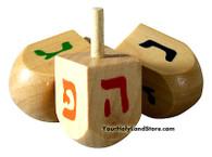 3 Chanukah Wooden Dreidels