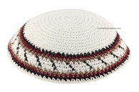 Knitted Kippah with Colorful Stripes