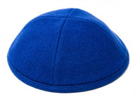 Blue Wool Kippah