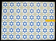 480 STAR OF MAGEN DAVID STICKERS