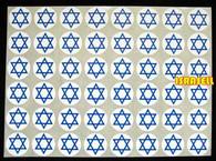 480 STAR OF MAGEN DAVID STICKERS