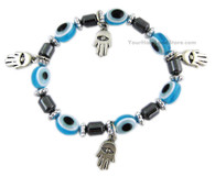 Evil Eye and 4 Hamsa Protection Hands Bracelet