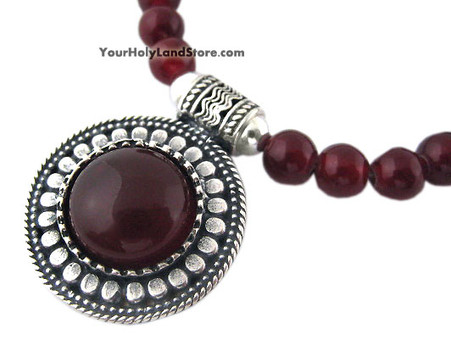 Shema Yisrael Carnelian Gemstone Necklace