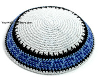 Knit White Kippah
