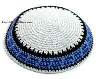 Knit White Kippah