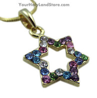 Star of David Gold Plated Necklace