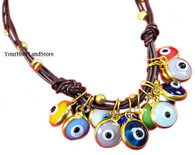 EVIL EYE PROTECTION LEATHER BRACELET 1