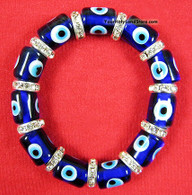 Evil Eye Protection Glass and Zircon Bracelet
