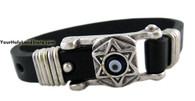 Leather Bracelet with Star of David
