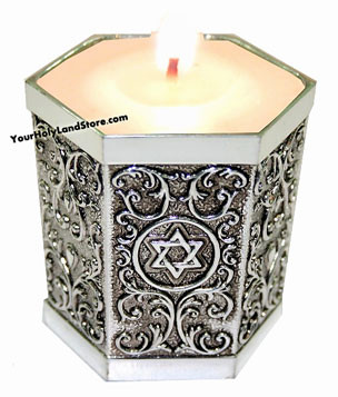 Silver Memorial Candle Holder