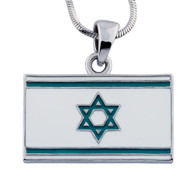 ISRAELI FLAG NECKLACE