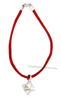 Kabbalah Red String Bracelet with Merkaba