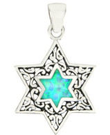 Star of Magen David Opal Pendant