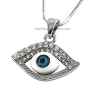Evil Eye Protection Necklace with Stones