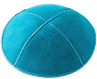 Personalized Turquoise Suede Kippah