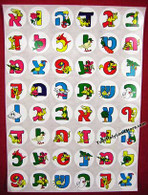 HEBREW ALPHABET COLORFUL STICKERS