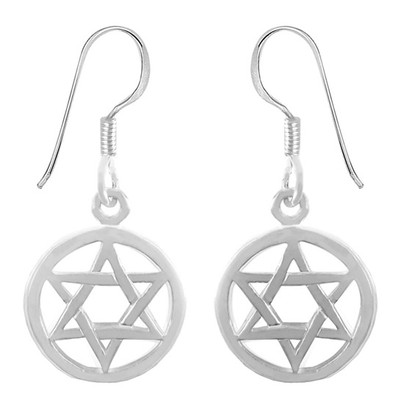 Sterling Silver STAR OF MAGEN DAVID EARRINGS