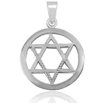 STERLING SILVER STAR OF MAGEN DAVID PENDANT