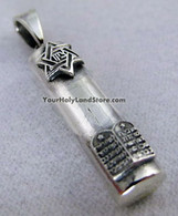 Star of David & 10 Commandments MEZUZAH PENDANT