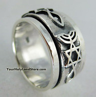 STERLING SILVER MESSIANIC RING