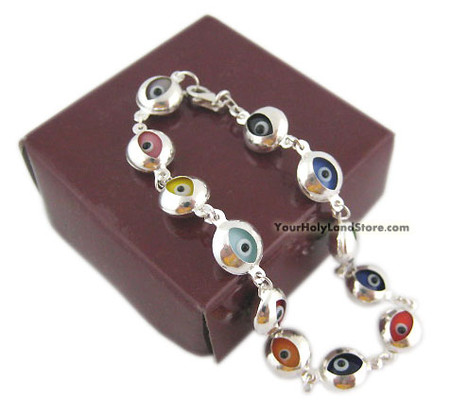 925 Sterling Silver Evil Eye Protection Bracelet