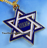 24K Gold Plated STAR OF MAGEN DAVID NECKLACE