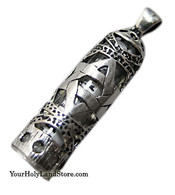 STERLING SILVER MEZUZAH PENDANT + SHEMA SCROLL