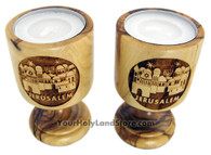 Jerusalem Olive Wood Candlesticks