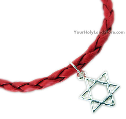925 Sterling Silver Red String KABBALAH DAVID STAR BRACELET