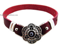 PROTECTION AGAINST EVIL EYE LEATHER BRACELET